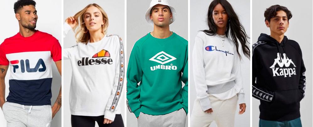 Come-back des marques sportswear des 90s / Logomania / Agence de design stratégique Register