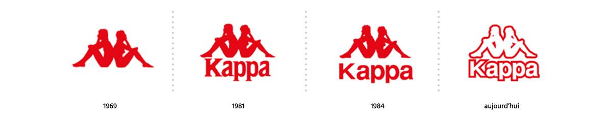 Evolution logotype de la marque Kappa / Logomania / Blog / Agence Register Design