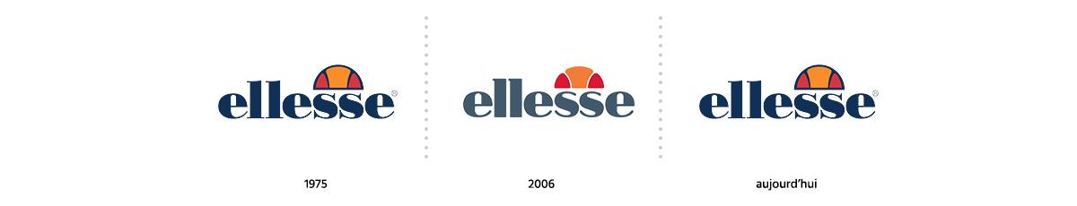 Evolution logotype marque Ellesse / Logomania / Blog / Agence Register Design